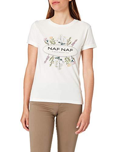 Naf Naf OFLEUR Camiseta, Crudo, S para Mujer