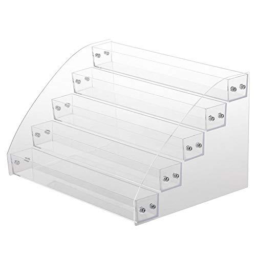 Broco Nail durable acrylique transparent maquillage polonais affichage boîte Rack Cinq couches
