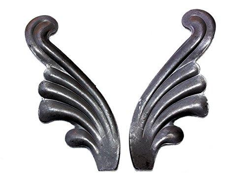 UHRIG # 556 paar sierrozet engelvleugels bladeren eiken bladeren kunstsmeden leuningen
