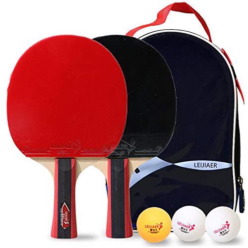 HNHT Tafeltennisset, Professionele Pingpongracketset Met 2 Batjes En 3 Ballen In Draagtas, Tafeltennisbatjes En Balletjes Met Koffer, Ideaal Voor Kinderen Volwassenen Set Voor 2 Spelers