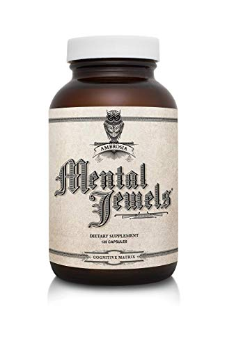 Ambrosia Mental Jewels (Capsules) - Cognitive Enhancer   Increase Memory, Communication Skills, Concentration & Focus   Alpha GPC, Choline, BaCognize   120 Veggie Capsules (30 Day Supply)