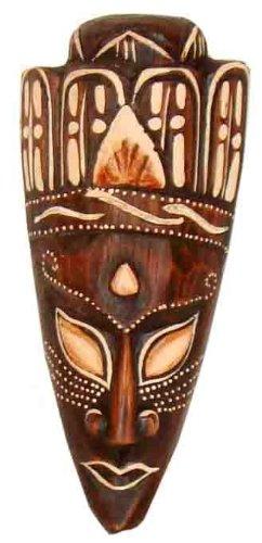 Maske Jano bemalt, wahlweise in 20 cm, 50 cm oder 100 cm, Holz-Maske aus Bali, Wandmaske, Afrikanische Dekoration (ca. 20 cm)