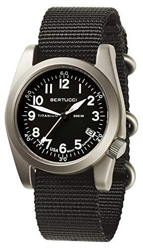 Bertucci A-11T Americana 13330 Mens Black Nylon Band Black Quartz Dial Watch