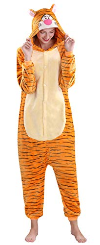 Yimidear Unisex Cálido Pijamas para Adultos Cosplay Animales de Vestuario Ropa de Dormir Halloween y Navidad