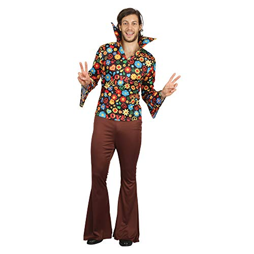 Bristol Novelty AF093 Hippy Man, Hombre, Multicolor, Talla Única