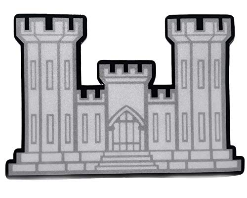CORPS CASTLE LOGO OF THE U.S. ARMY CORPS OF ENGINEERS (REFLECTIVE) DECAL 4.5' X 3.5' Military