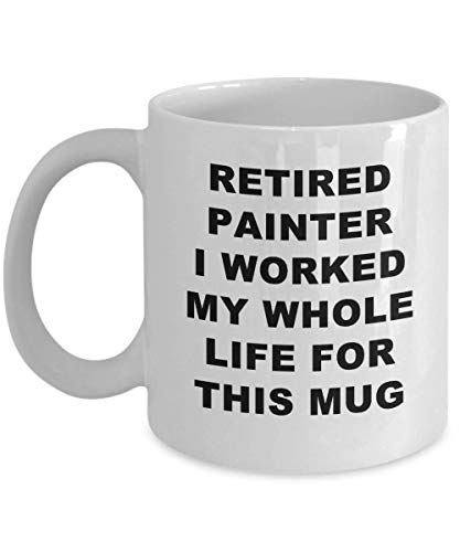 Painter coffee mug funny unique retired best novelty gift idea for him her retiring retire paint painting airbrush brushstroke brushwork