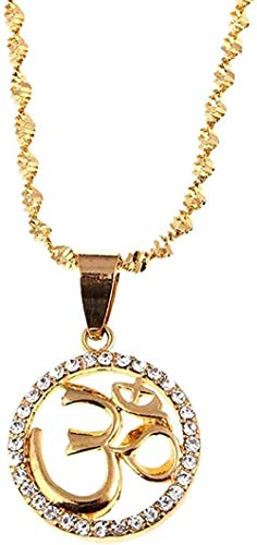 Yiffshunl Collar de Mujer, Collar hindú, Collar Budista, hinduismo, Yoga, India, Deporte al Aire Libre, Color Dorado, Yoga, joyería para Mujer