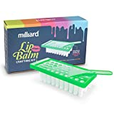 Milliard Lip Balm Crafting Kit – Includes Lip Balm Pouring Tray & 50 White 0.15oz (4.25g) Balm Tubes