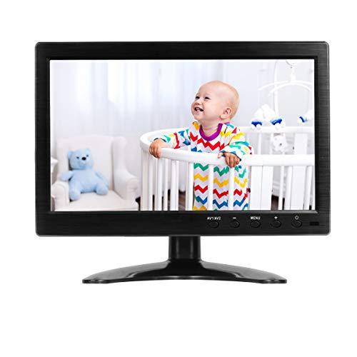 10,1 Pulgadas CCTV Monitor Portátil 1366x768 LCD Full HD Seguridad Monitor con HDMI/VGA/USB/AV compatibles DVD PC CCTV Cámara,Thinlerain