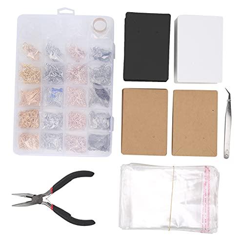 01 Tarjeta de exhibición de Orejas, Kit de fabricación de Orejas de Bricolaje Completo Estable para Hacer Joyas para Hacer Pulseras para aretes para Collares
