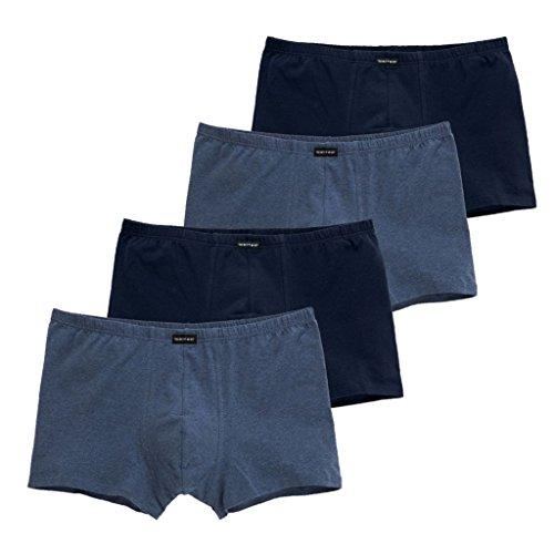 CiTO - Modern Basics - 95/5 - Herren Pants - 4er-Pack (6 Dunkelblau/Blau-Melange)