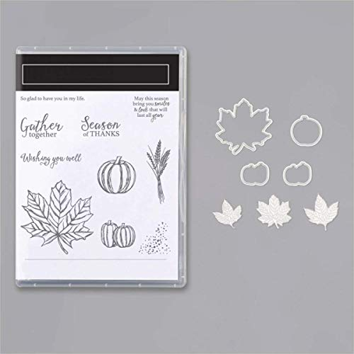 Maple Leaf Metal Cutting Dies and Matched Stamp Sets Soft Clear Rubber Gel Stamps Pumpkin Lavender Season Christmas Wishes Words Stampings Embossing Stecncil Metal Die-cuts for Card Making Stencil Tem