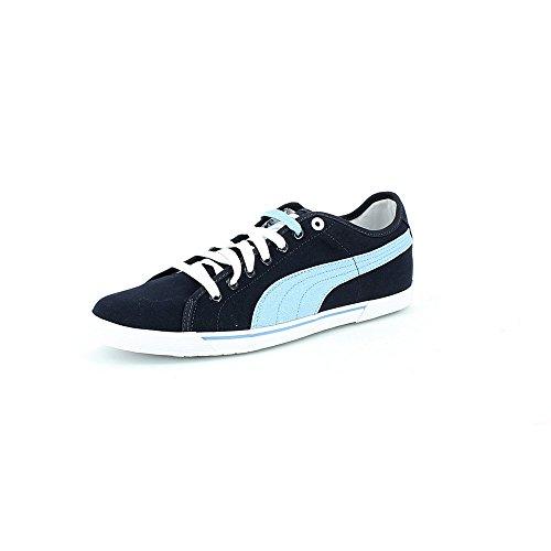 Puma Benecio Canvas 35075427 Sneaker, modisch, Herren, Blau - Dunkelblau, Himmelblau und Weiß. - Größe: 41 EU