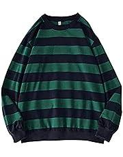 ARMAC Mens Crew Neck Sweatshirt,Gestreepte Pullover lange mouwen Jumper Klassieke Casual Bovenkleding Tops