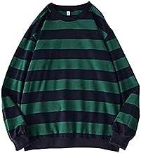 ARMAC Mens ronde hals Sweatshirt, gestreepte trui lange mouwen jumper klassieke casual bovenkleding tops