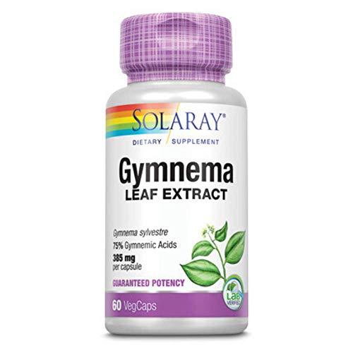 Solaray Guaranteed Potency Gymnema Leaf Extract   Veg Cap   385mg   60ct