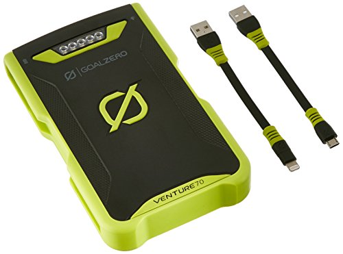 GOALZERO Venture 70 Solar RECHARGER (Micro/Lightning), Power Bank Unisex Adulto