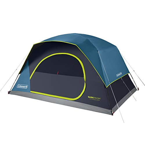 Coleman 8-Person Dark Room Skydome Camping Tent, Blue