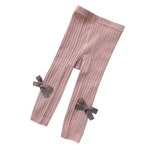 WanXingY Frühling und Sommer-Baby-Gamaschen, aus Reiner Baumwolle atmungsaktiv Strickleggings, Bowknot All-Gleiches Kind Gamaschen (Farbe : Picture Color, Size : 12M)