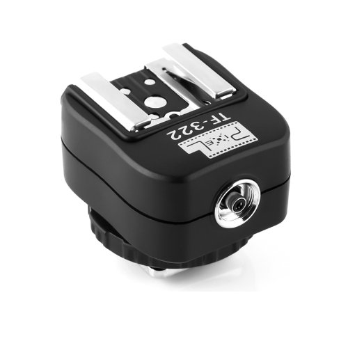 Pixel TF-322 i-TTL Blitzschuhadapter Blitzadapter mit PC-Sync-Anschluss für Nikon DSLRs and Flashgun