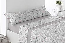Regalitos TV Topitos Cady - Juego de cama de verano con dibujos, todas las camas con largo de 200cm, microfibra, sábana bajera, 1 funda de almohada y parte superior, microfibra, beige, 150_x_200_cm