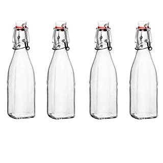 Bormioli Rocco Glass 8.5 Ounce Swing Top Bottle, Set of 4 (B01068MRJ2) | Amazon price tracker / tracking, Amazon price history charts, Amazon price watches, Amazon price drop alerts