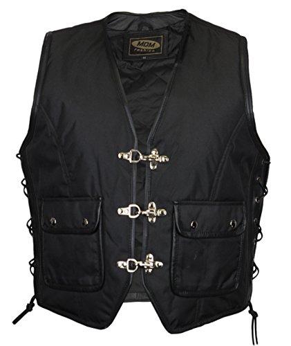MDM Textil Bikerweste in schwarz (L)
