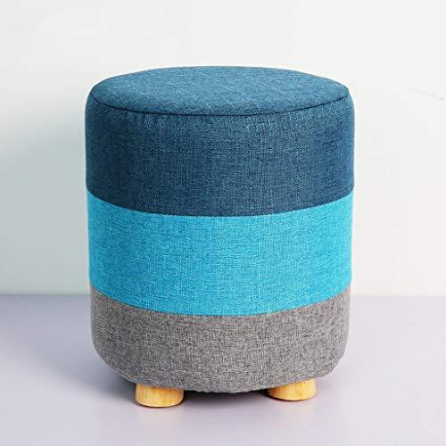 NXYJD Heces, de Madera de la Cubierta del reposapiés Lavables taburetes for niños Piernas tapizada Sofá Banco (Tamaño: 28 * 28 * 32 cm)
