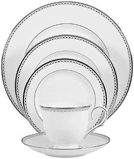 Lenox Pearl Platinum Bone China 5-Piece Place Setting, Service for 1,White - 6111033