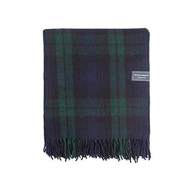 The Tartan Blanket Co.. Recycled Wool Knee Blanket Black Watch Tartan 29.5  x 66