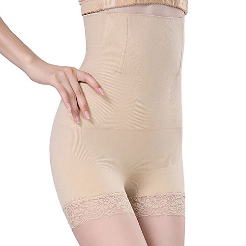 SURE YOU LIKE Damen Figurenformend Miederpants Miederhose Shapewear Bauch-Weg-Effekt Formt Sofort Body Shaper, Beige, XXXL
