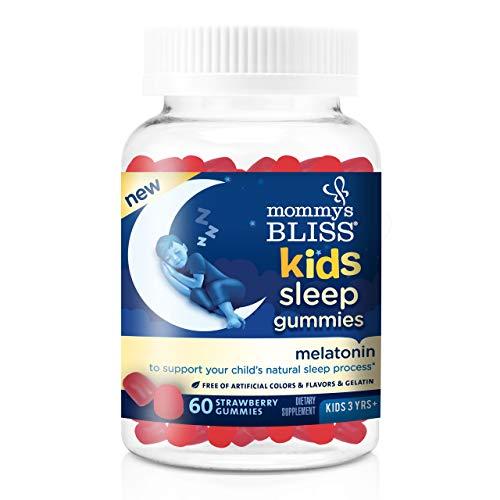 Mommy's Bliss - Kids Sleep Melatonin Gummies - 60 Gummies - Strawberry