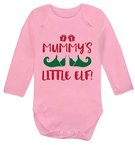 Flox Creative Mummy's Little Elf Gilet à manches longues pour bébé - Rose - 6-12 mois