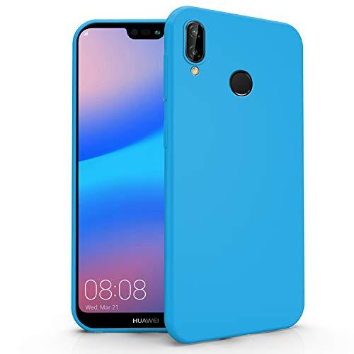 N NEWTOP Cover Compatibile per Huawei P20 Lite, Custodia TPU Soft Gel Silicone Ultra Slim Sottile Flessibile Case Posteriore Protettiva (Azzurro Newtop)