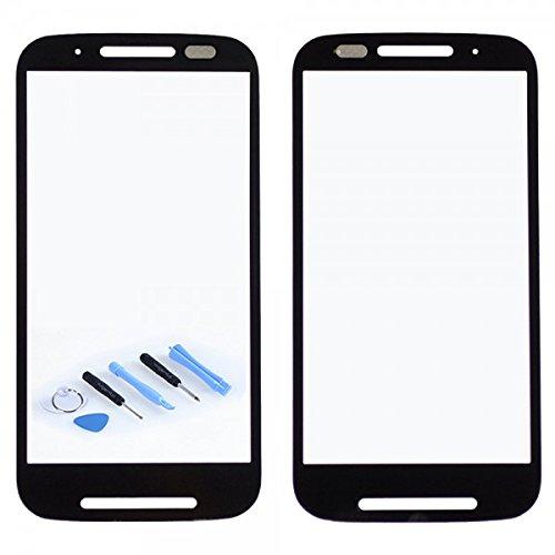 Wigento Displayglas Front Display Glas Schwarz für Motorola Moto E XT1021 Reparatur Set Hochwertig + Opening KIT Tool Werkszeug Neu New Angebot Zubehör Aktion Günstig