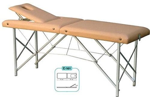 Plegable Mesa de terapia, Camilla de masaje, MASAJE TUMBONA - N º 63. GRIS CLARO ✅
