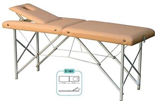 Plegable Mesa de terapia, Camilla de masaje, MASAJE TUMBONA - N º 63. GRIS CLARO ⭐