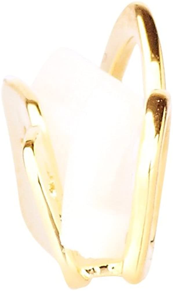 Iced Out Double Hollow Teeth Grill - One Size fits All - Right Gold