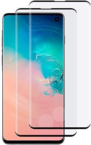 Panzerglas für Samsung Galaxy S10 Plus, [2 Stück] 9H Härte 3D Vollständige Abdeckung Displayschutzfolie, Anti-Kratzen, Anti-Bläschen, Fingerabdrücke 3D Kompatibel, S10 Plus Panzerglasfolie Schutzfolie