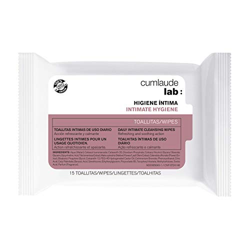 CUMLAUDE Lab - Toallitas Íntimas de Uso Diario con Acción Calmante y Refrescante - 15 Toallitas