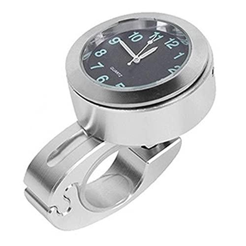 Ymxcwer85851 Reloj de Manillar de Motocicleta de Acero Inoxidable Montaje con Hebilla Impermeable