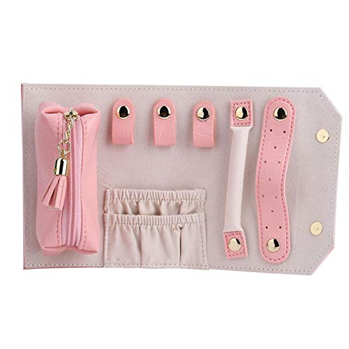 Pequeña bolsa portátil de joyería de viaje, caja de joyería, adecuado para actividades al aire libre, viajes, compras, fiesta de baile