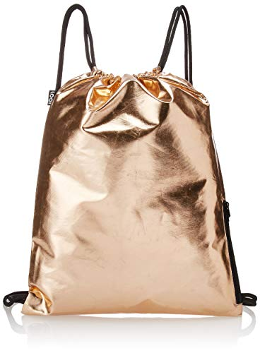 LOQI Metallic Rucksack, 43 cm, 14 L, Rose Gold