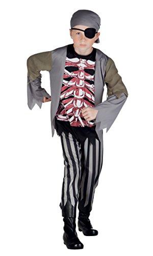 Boland 78045 – Costume Enfants Pirate Brad Bones, Noir
