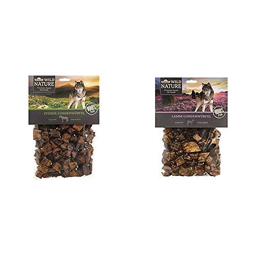 Dehner Wild Nature Hundesnack, Pferde-Lungenwürfel, naturbelassen, 200 g & Wild Nature Hundesnack, Lamm-Lungenwürfel, naturbelassen, 200 g