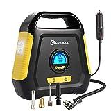 CREMAX Gonfleur de Pneu de Voiture, Compresseur Portable 12V, Gonfleur Compresseur d'air à Écran LCD pour Gonfler Le Pneu de Voiture, avec Lampe LED 120PSI