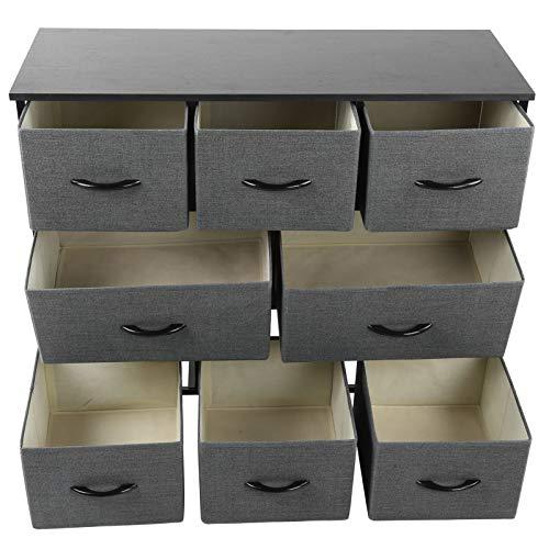 YCSD Armadio per Abbigliamento per Organizzatore di Storage in Tessuto Non Tessuto con 8 Cassetti Dresser Storage Tower Tower per Camera da Letto