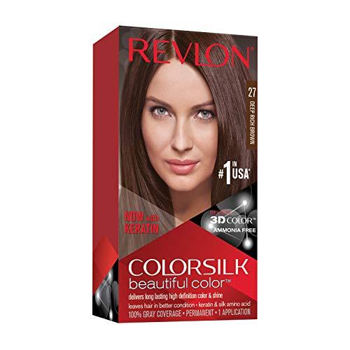 Revlon ColorSilk Tinte de Cabello Permanente Tono #27 Castaño Intenso