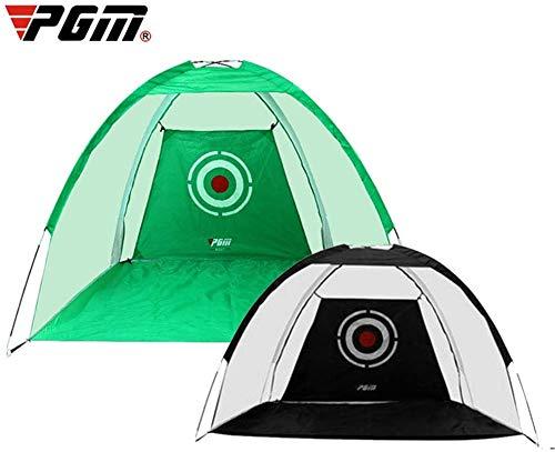 PGM Golf Hitting Net, Outdoor Foldable Target Training Portable Golf Practice Net Tent,Oxford cloth, Polyester mesh, Fiberglass rod,Green,2m